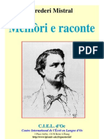 Frédéric Mistral - Memòri e raconte