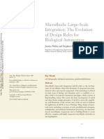 Microfluidic Large-Scale Integration- The Evolution of Design Rules for Biological Automation