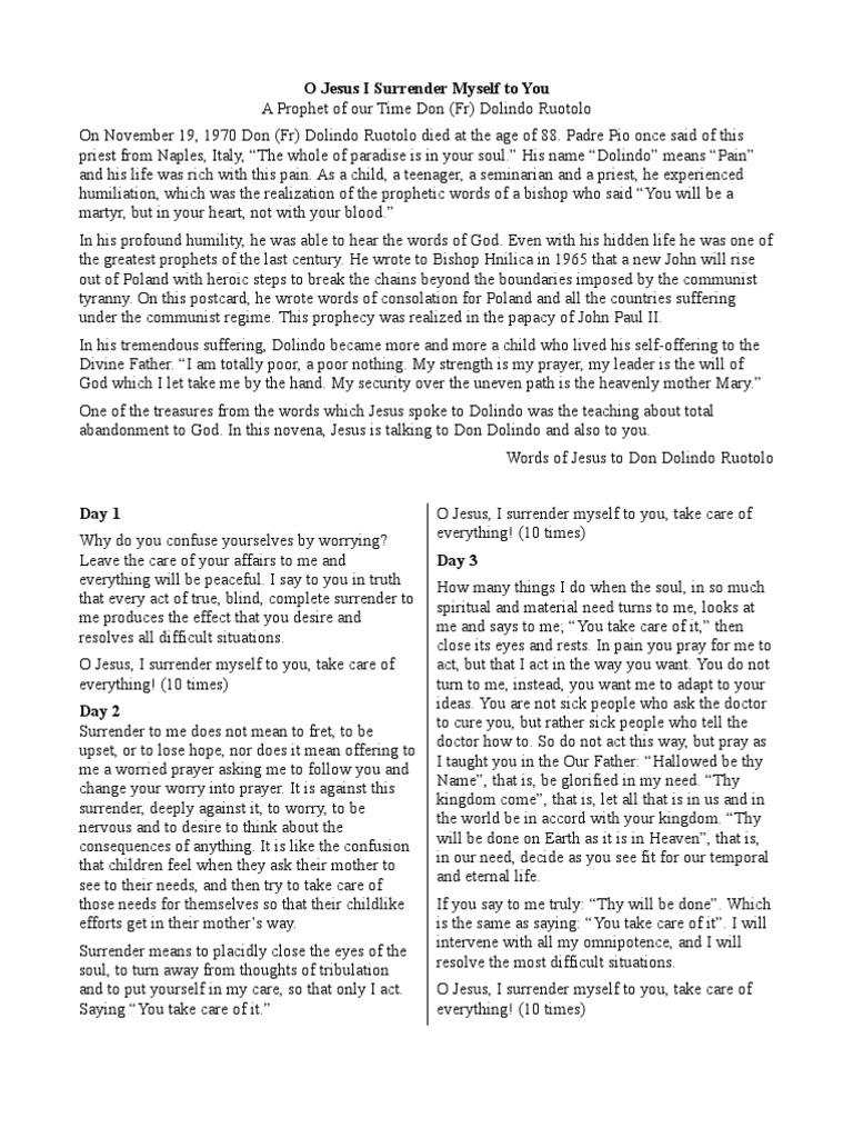 Resource image intended for surrender novena printable