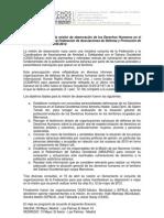 Informe Federacion de Asociaciones de Defensa y Promoción de Derechos Humanos .