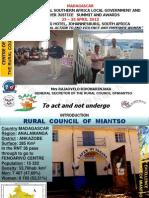 Rajaovelo Rivonarinjaka, Madagascar, Centres of Excellence - Summit 2012
