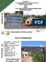 Vololoniana Rasoamananandray, Madagascar, Centres of Excellence - Summit 2012