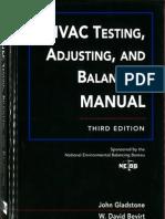 HVAC Testing, Adjusting, And Balancing Manual Third Edition