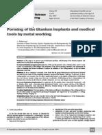Titanio doblado aplicaciones médicas