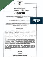 Decreto 884 de 2012 - Reglamentación Teletrabjo