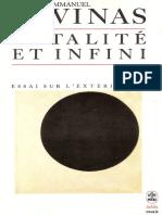 Levinas Totalite Et Infini