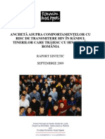 Ancheta Comport a Mental A Tineri HIV SIDA- Raport 2009 RAA