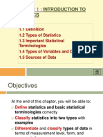 Chapter 1 Introd to Statistics