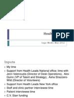 Evaluation Plan - Health Leads - Levine