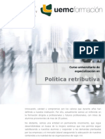 Curso universitario de especialización en Política Retributiva