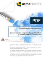 Curso Universitario de Especialización en Comunicación Empresarial, Publicidad y Diseño Gráfico Publicitario