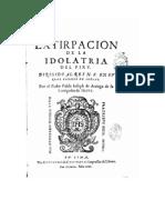 Joseph de Arriaga - Extirpación de la idolatría del Perú