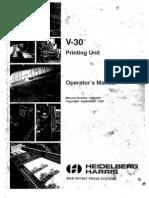 Heidelberg Harris V30 Operators Manual