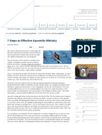 7 Steps to Effective Apostolic Ministry