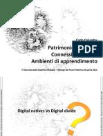 Patrimonio Culturale, Connessioni Digitali, Ambienti di Apprendimento
