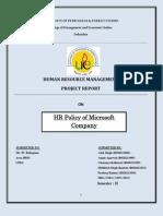 HR Policy of Microsoft Company