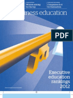 FT Business Education Rankings 2012