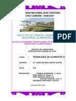 Informe de Extraccion de Almidon de Yuca