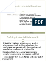 Approaches to Industrial Relations Wednesday)