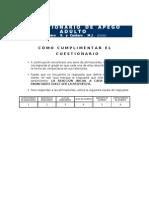 Cuestionarios Apego CAA ECR y CR
