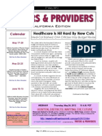 Payers & Providers California Edition – Issue of May 17, 2012