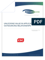 Unlocking the Value in Application Outsourcing