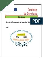 (cátalogo de servicio de DPDyBE 2011-2012) pdf