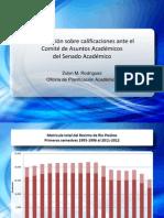 Data de Oficina de Planificación Académica sobre Inflación de Notas en el Recinto de Río Piedras