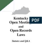 Kentucky Open Meeting Laws