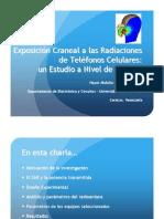 Exposición Craneal a las Radiaciones de Teléfonos Celulares