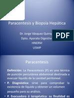 Paracentesis y Biopsia Hepatica