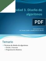 Unidad 3. Diseño de algoritmos