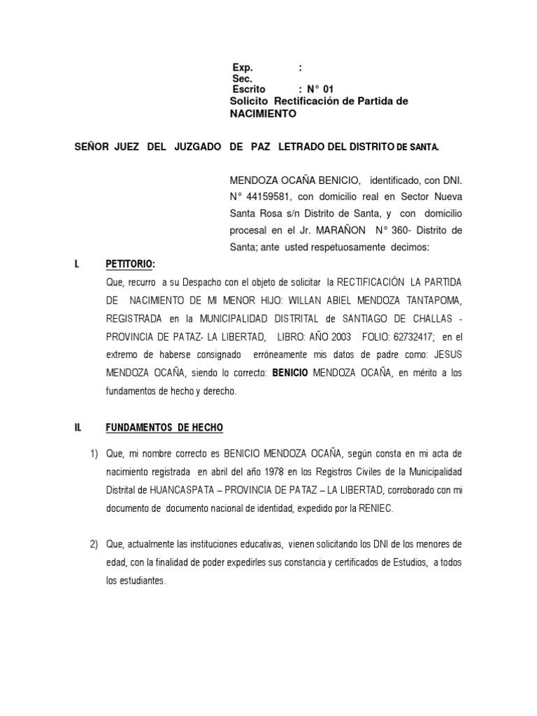 Dorable Solicitud De Certificado De Nacimiento Ok Componente - Cómo ...
