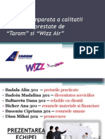 Analiza Comparativa Tarom Wizz Air