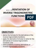 Lesson 12_Derivative of Inverse Trigonometric Functions