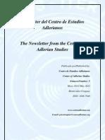 Newsletter Nº 5 Centro de Estudios Adlerianos