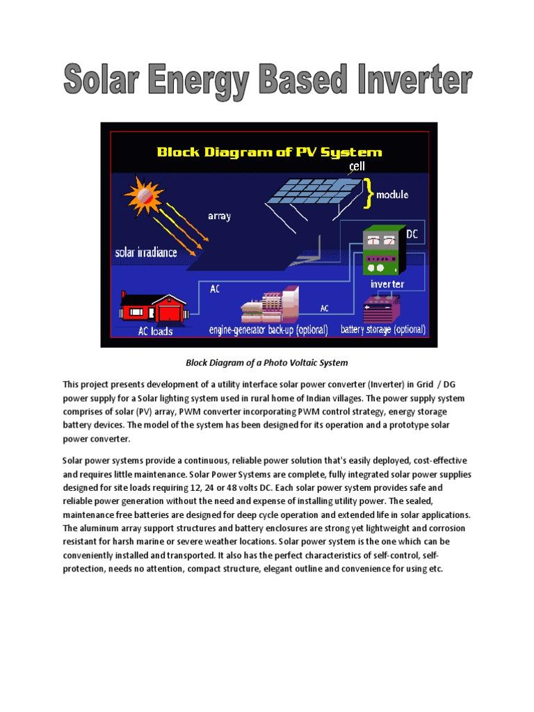 Block diagram of a photo voltaic system photovoltaic system block diagram of a photo voltaic system photovoltaic system solar power ccuart Choice Image