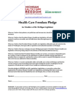 2012-05-02 Michigan Health Care Freedom Pledge