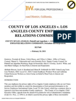 County of Los Angeles v. Los Angeles County Employee Relations Commission