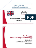 Areva Procurement & Quality Process - UK Supplier Day, March 16th Birmingham