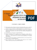 Caderno de Provas PAVE 2010-12 Etapa 1