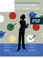 Advancing Evaluation Practices in Philanthropy