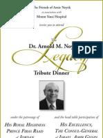 Dr. Arnold M. Noyek Tribute Dinner