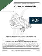 MTD 771 Operator's Manual