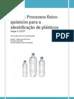 AL 3.1 - Identificação de plásticos por testes físico-químicos
