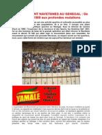 Le Mouvement Navetanes Au Senegal