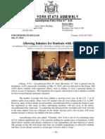 Inhaler Legislation A935 Passed Assembly Press Release 05