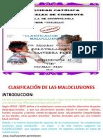 Clasificacion de Las Mal Ocusiones Grupooo3