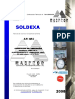 Informe Tecnico de Tanque Diesel 1600 Galones SOLDEXA