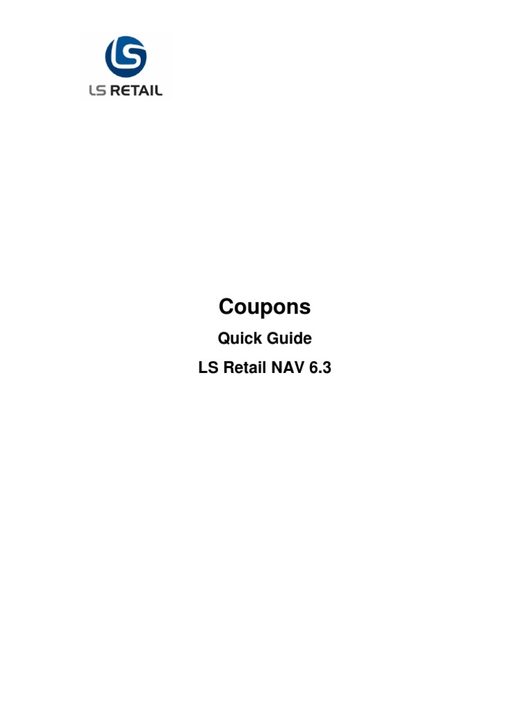 Coupons quick guide ls retail 63 coupon point of sale fandeluxe Choice Image
